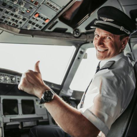 Man,In,Uniform,Showing,Ok,Gesture,Stock,Photo.,Airways,Concept