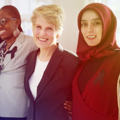 Diverse,Women,Group,With,Black,Ribbon